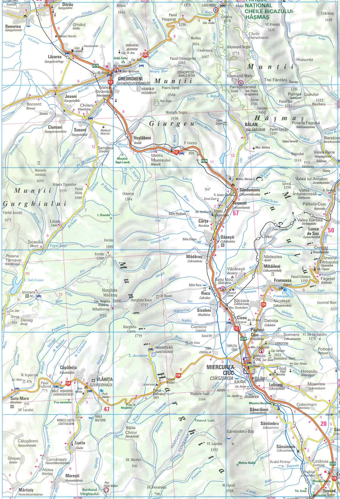 Harta Muntii Harghita