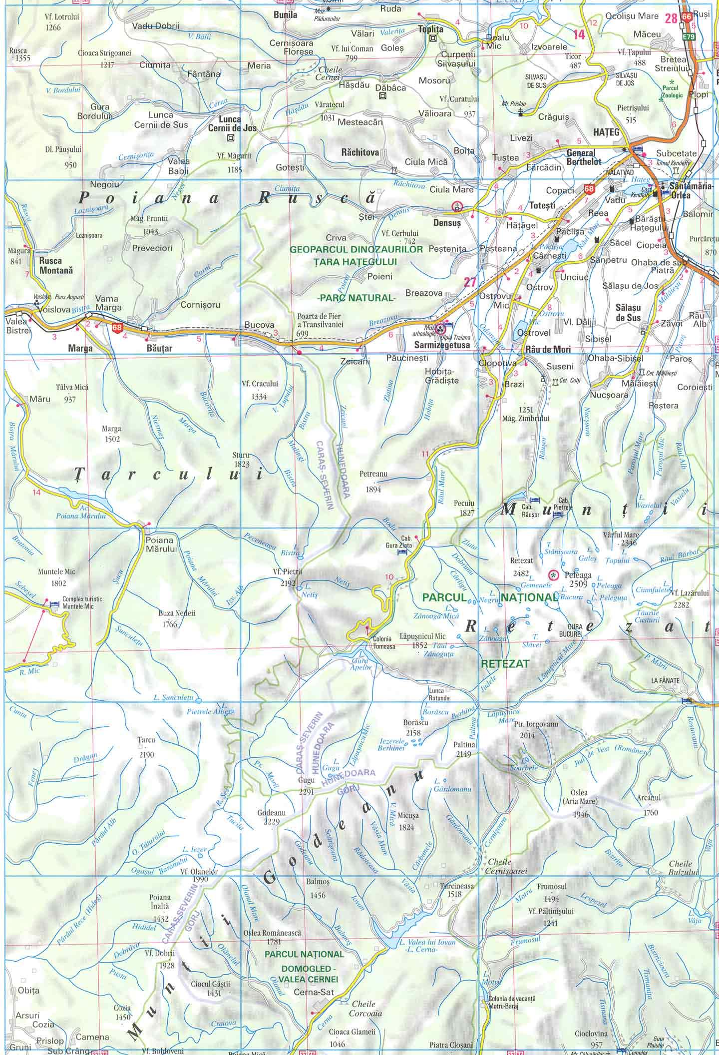 Harta Lacul Iezer Din Muntii Godeanu
